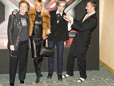 X Factor / 2 - Mara Maionchi, Simona Ventura, Morgan e Francesco Facchinetti