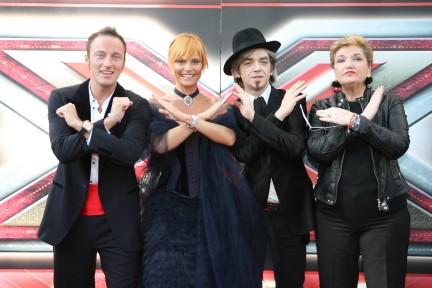 X Factor 2 - Mara Maionchi, Morgan, Simona Ventura, Francesco Facchinetti